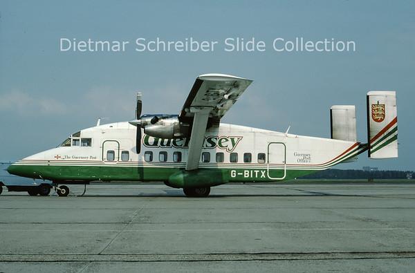1988-09 G-BITX Shorts SH330 (c/n SH.3069) Guernsey Airlines