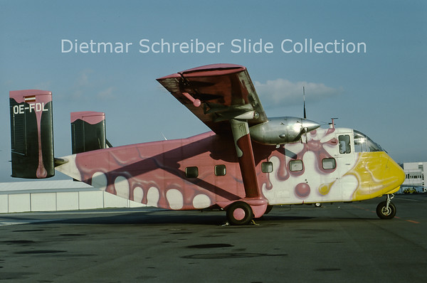 1991-10 OE-FDL Shorts SC7 Skyvan (c/n SH.1904) Pink Aviation Service