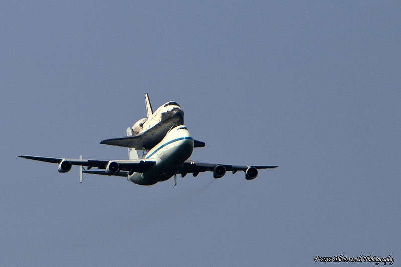 Space Shuttle Endeavour Aboard NASA 905 during flyby