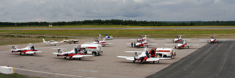Two photos stitched together. To fully appreciate this one you need to look at the large version. Canadair CT-114 Tutors