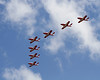 You really didn't know where the Snowbirds would come from, this formation they came in from behind the crowd.