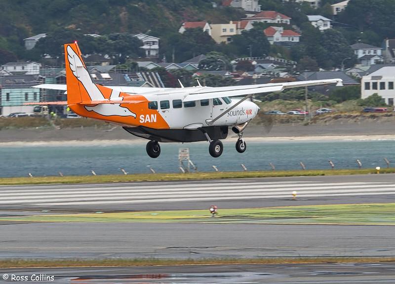 Sounds Air Cessna 208B Grand Caravan arrival at WLG ex BHE as S8276, 16 December 2019 2018