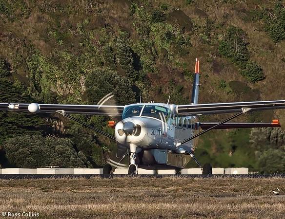 Sounds Air Cessna 208B Grand Caravan departs WLG to BHE as S8267, 21 October 2017