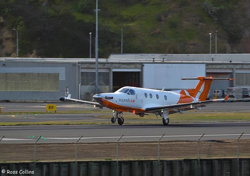 Sounds Air Piatus PC-12 at Wellington, 31 January 2017