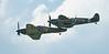 Biggin Hill, Biggin Hill 2016, Festival of Flight, Hawker, Hurricane, Kent Spitfire, P2921, Sea Hurricane Mk10, Spirit of Kent, Spitfire, Spitfire MK IXe, Supermarine, TA805