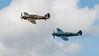 BBMF, Battle of Britain Memorial Flight, Hawker, Hurricane, Hurricane MK IIc, LF363 (BBMF), PS853, RIAT 2007, Spiffire PR Mk.XIX, Spitfire, Supermarine