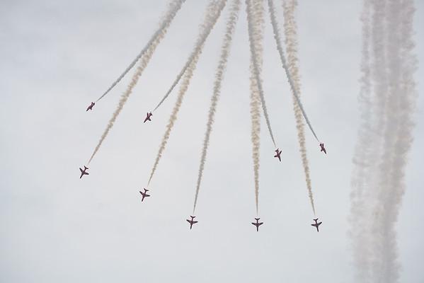 BAe, British Aerospace, Hawk T1, RAF, RIAT2016, Red Arrows, Royal Air Force, Split (42.2Mp)