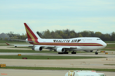 Cincinnati, Ohio,   KCVG 04/13/2019 Boeing 747-446(BCF) N744CK of Kalitta Air c/n 26353 Taking off on runway 27 as K4982 to Leipzig.  This work is licensed under a Creative Commons Attribution- NonCommercial 4.0 International License.