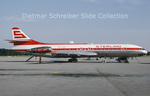 1991-08 OY-STM Sud Aviation Caravelle 10B3 (c/n 268) Sterling Airways