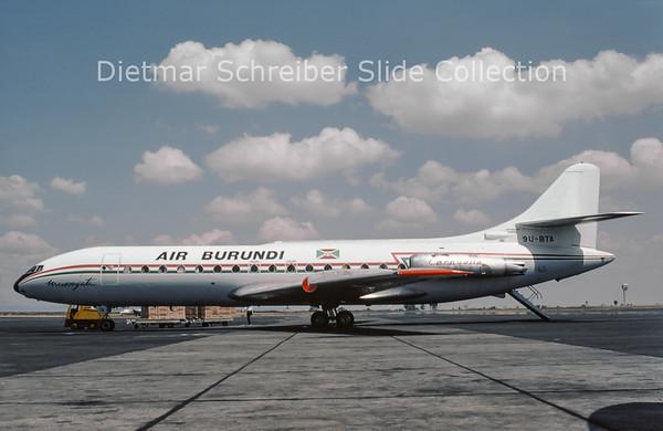 1976-08 9U-BTA Sud Aviation Caravelle 3 (c/n 144) Air Burundi