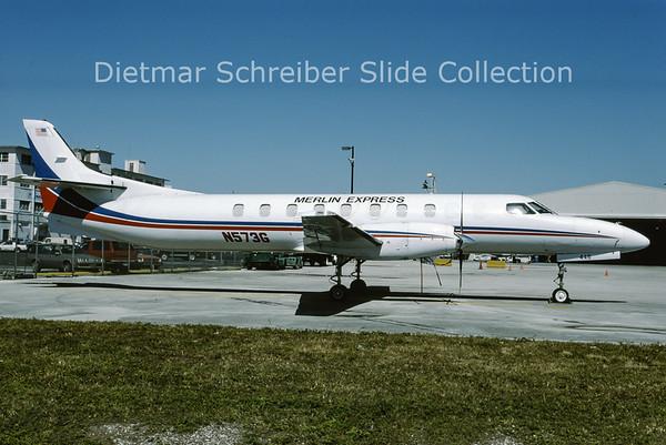 1995-02 N573G Swearingen Merlin IVC (c/n AT-446B) Merlin Express
