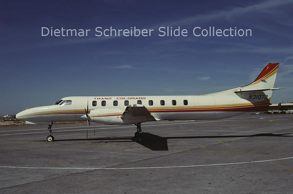 1985-07 N31072 Swearingen Metro III (c/n AC-504 ) Trans Colorado