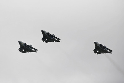 Day three of the farewell tour took in Scotland with flypasts at Leuchars (my fifth and last unit), RAF Tain Air Weapons Range (my second unit) and RAF Lossiemouth.  Leuchars was home to 2 squadrons of F3 air defence variants of the Tornado, 43 and 111 Squadrons. 43 Sqn flew the F3 Tornado between September 1989 and July 2009 when it was stood down as a squadron.  111 Sqn was equipped with the F3 between June 1990 and March 2011 when it too was stood down.