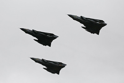These airframes have flown up from RAF Marham (my first unit) in Norfolk.  There must have been several hundred people at Leuchars who came to see the Tornado fly one last time.