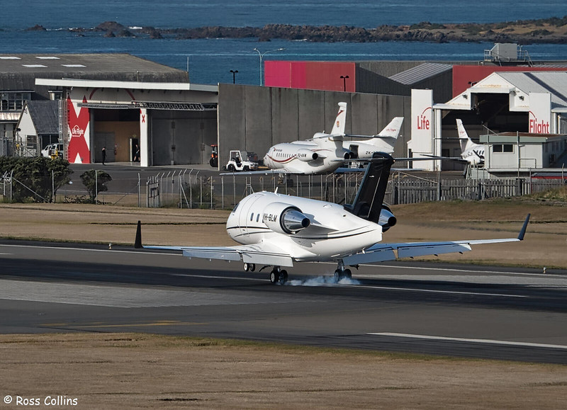Bombardier CL604 VH-BLM at WLG, 24 February 2020