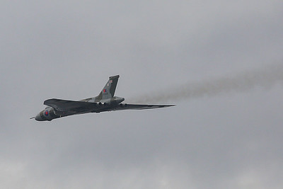 """After performing displays every season from 2008 until 2015 inclusive, XH558 last flew on 28 October 2015.  This was due to the withdrawal of support from the """"technical authorities"""" without whom the aircraft is prohibited from flying, under Civil Aviation Authority (CAA) regulations. The Vulcan flies off into retirement and history.  Farewell!"""