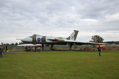 Parked up outside is Avro Vulcan B2A XM597.  Completed on 26 August 1963, it was delivered to 12 Squadron the next day. The only other surviving Vulcan to have engaged the enemy in the Black Buck missions of the Falklands War, setting the record for longest bombing raid in Black Buck 5, and causing an international incident when it had to divert to Brazil in Black Buck 6, both feats commemorated with two mission markings and a Brazilian flag painted on the nose. Latterly with 50 Squadron, it was delivered to East Fortune on 12 April 1984. Displayed outside Hangar 1.