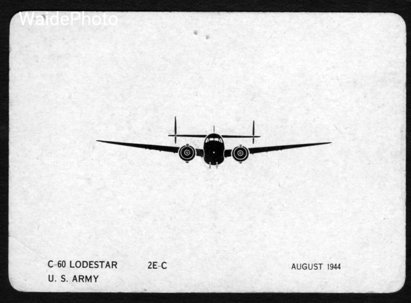 WWII Aircraft Identification Card