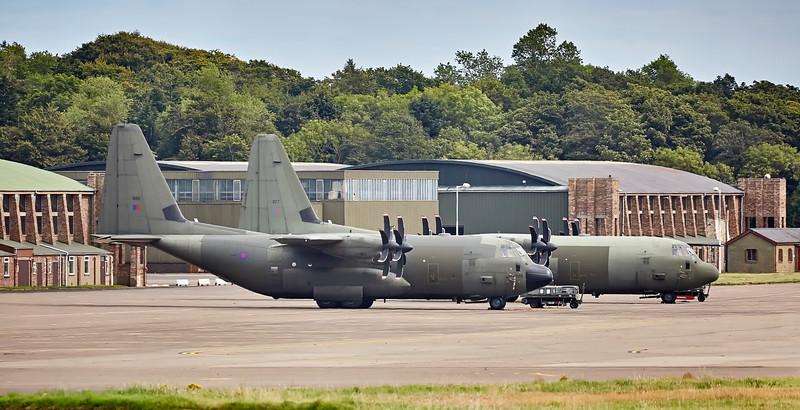RAF C130 Hercules (ZH886 and ZH877) at Leuchars - 7 September 2016