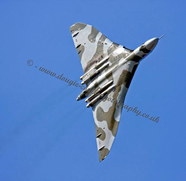 Vulcan Rehearses Over Leuchars Airfield