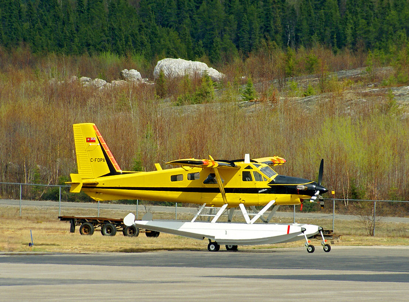 A Dehavilland DHC-2 MK. III (turbo Beaver)  Owned/Operated by the Ontario Ministry of Natural Resources. Stationed at the Dryden MNR base.