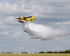 This  Dehavilland DHC-6 Twin Otter came through last to demonstrate its fire fighting capabilities.