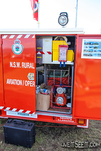 NSW Rural Fire Service - Illawarra Aviation/Operations Support trailer and portable shelter