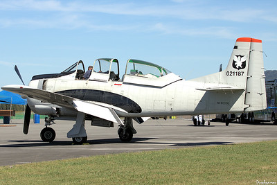 North American T28D  s/n 189-2 Trojan   NX8009G Rome GA 10/12/2018 This work is licensed under a Creative Commons Attribution- NonCommercial 4.0 International License.