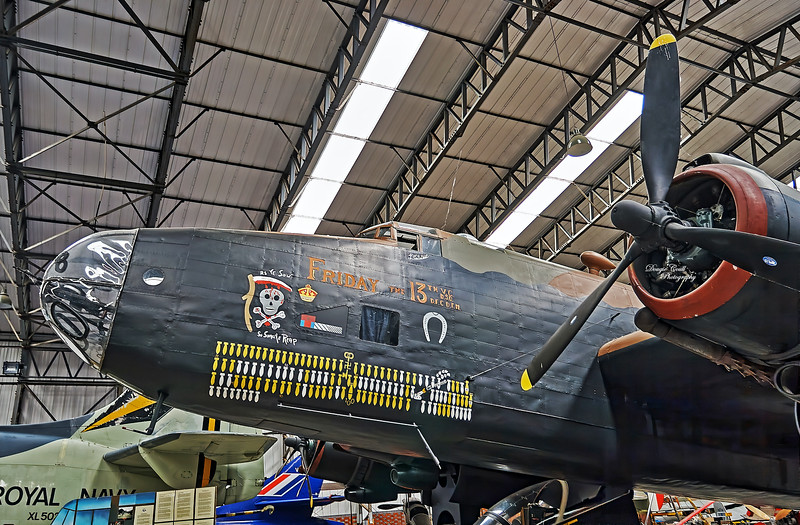 Handley Page Halifax Mk III at Yorkshire Air Museum near  19 June 2007