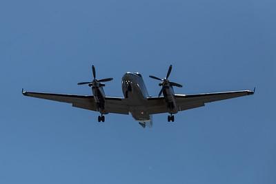 N841UP Landing at Teterboro