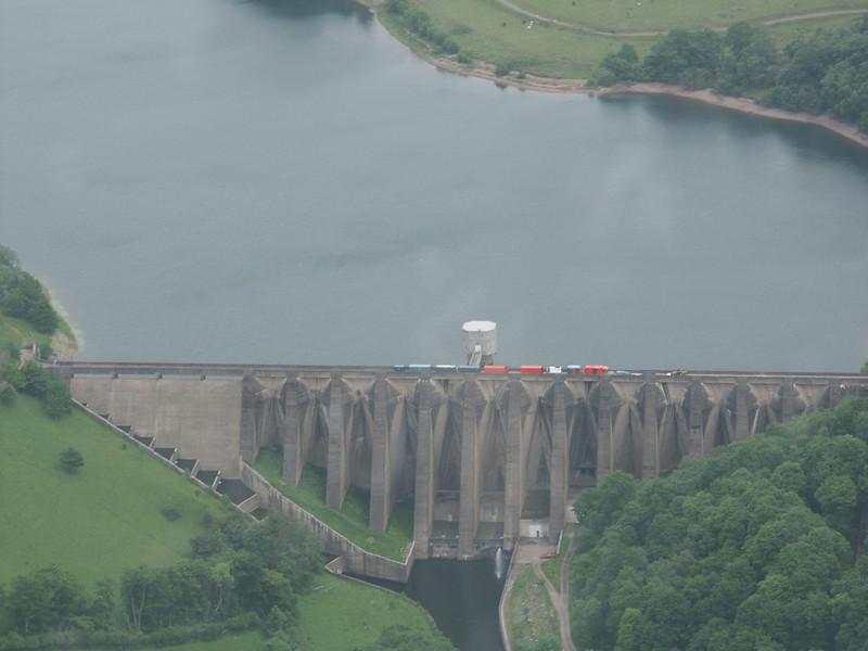 Wimbleball Dam, Exmoor - aerial photo June 2003