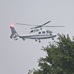 A Eurocopter AS365 on final at Teterboro. Tail N178MT