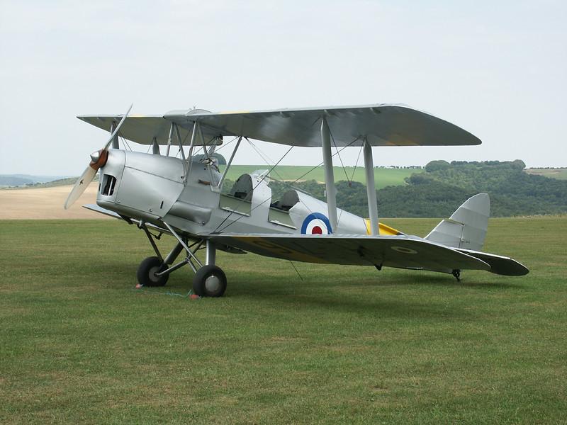 Royal Navy DH82A Tiger Moth XL716 (G-AOIL) Compton Abbas August 2003