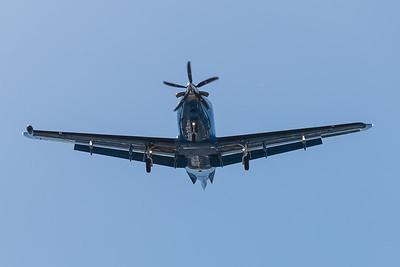 N755AF Landing at Teterboro