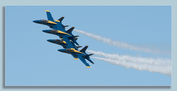 The Freedom of Flight US Navy Blue Angels soars above Cleveland