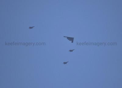 B-2A Spirit, F-22A Raptures