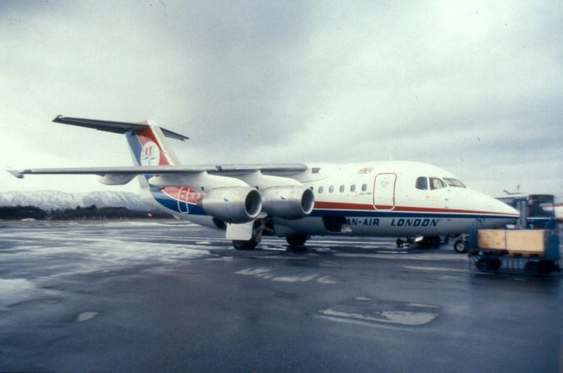 Dan-Air BAe 146, Bergen December 1983