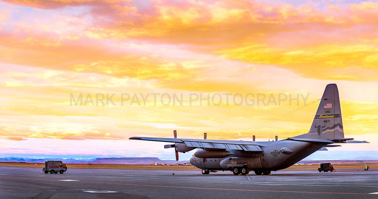 Montana C-130 at Dawn