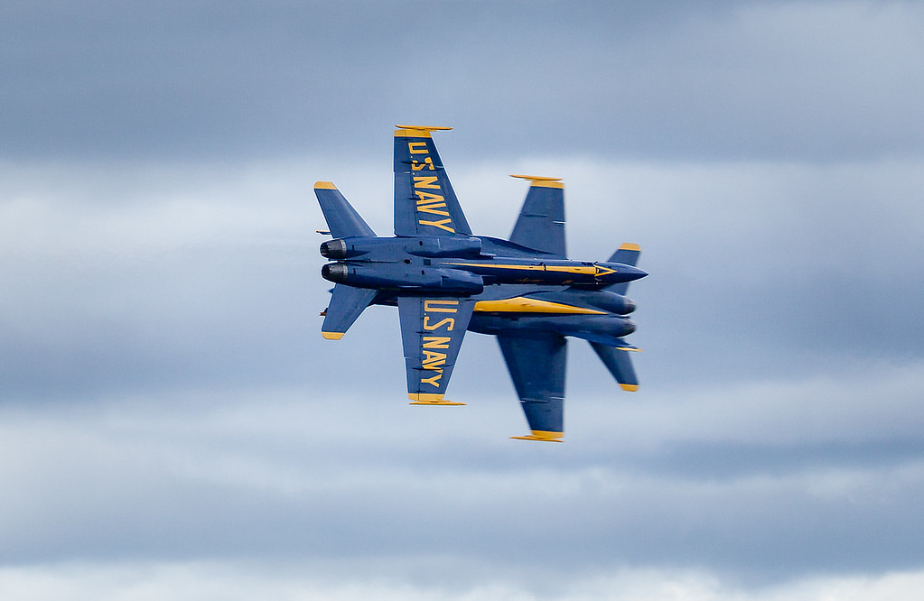 Blue Angles Opposing Knife Edge Pass