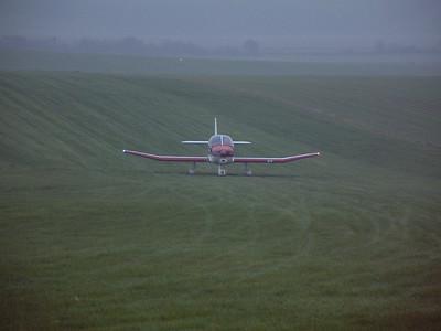 Robin DR400/120 G-BKDH, Draycott Farm, Chiseldon November 2001