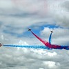 Red Arrows display at Farnborough Airshow