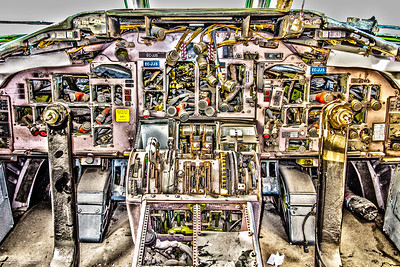 Abandoned Aircraft Cockpit in HDR