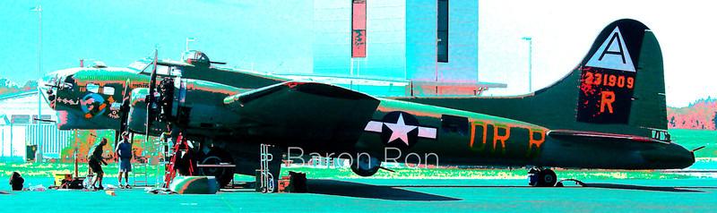 Classic Warbird B-17 Bomber at Paine Field, Everett, Wa