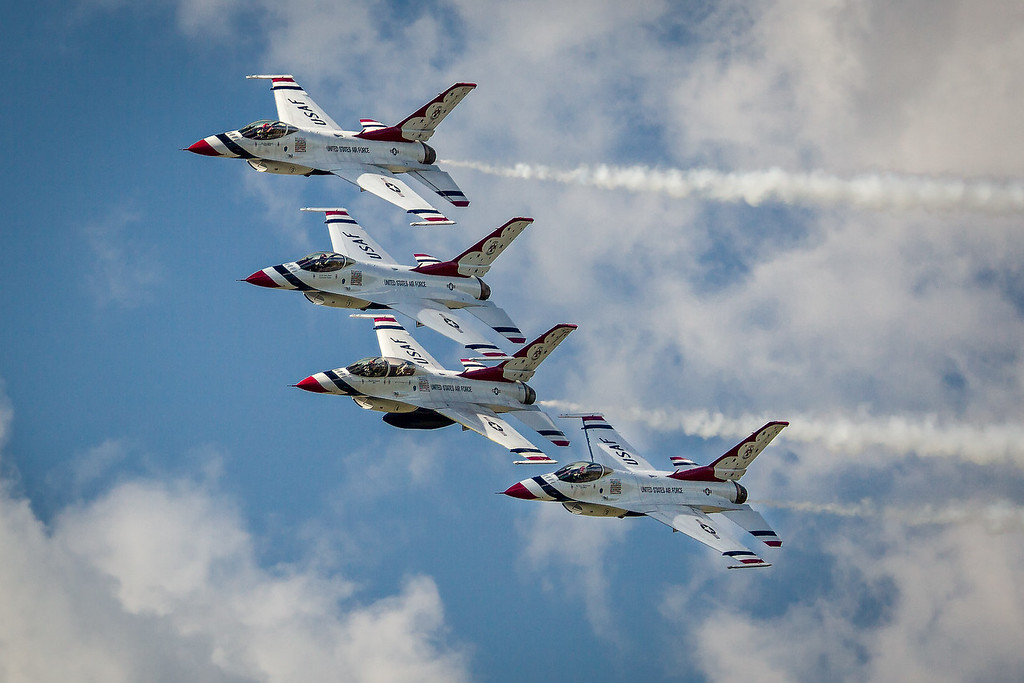 USAF Thunderbirds at Selfridge 2017
