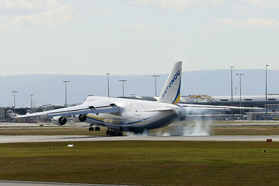 UR 82008 Antonov AN-124-100M-150 Ruslan (MSN 19530501006) of Antonov Airlines at Perth airport – 2nd August 2014
