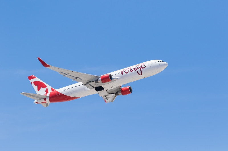 -(Airline) Air Canada Rouge <br /> -(Aircraft) Boeing 767-300ER<br /> -(Aircraft Registration) C-GHPN<br /> -(Flight Number) Air Canada Rouge 1833<br /> -(Flight Route) McCarran International Airport, NV to Detroit Metropolitan Airport, British Columbia, Canada