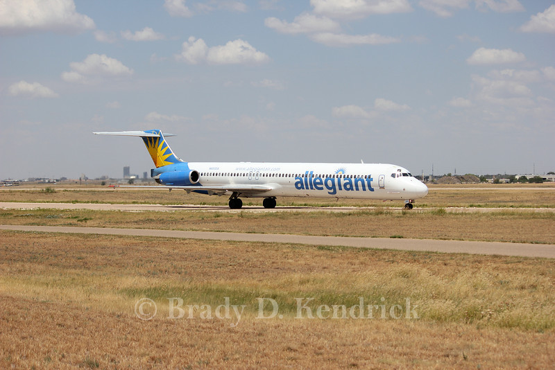 Airline:  Allegiant Air<br /> <br /> Aircraft Type:  McDonnell Douglas MD-83<br /> <br /> Photo Location:  Rick Husband Amarillo International Airport