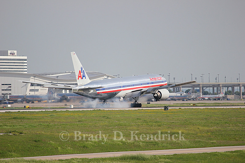 Airline:  American Airlines<br /> <br /> Aircraft Type:  Boeing 777-200<br /> <br /> Photo Location:  Dallas Fort Worth International Airport in Fort Worth, Texas