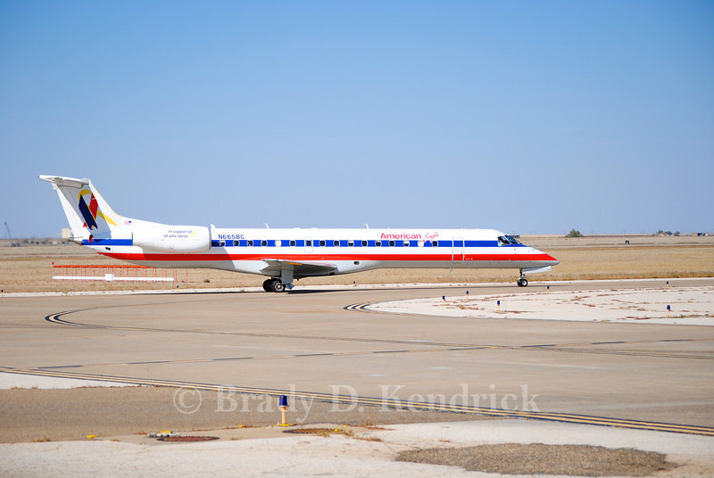 Airline: American Eagle  <br /> <br /> Aircraft Type: Embraer ERJ-145<br /> <br /> Photo Location: Rick Husband International Airport in Amarillo, Texas