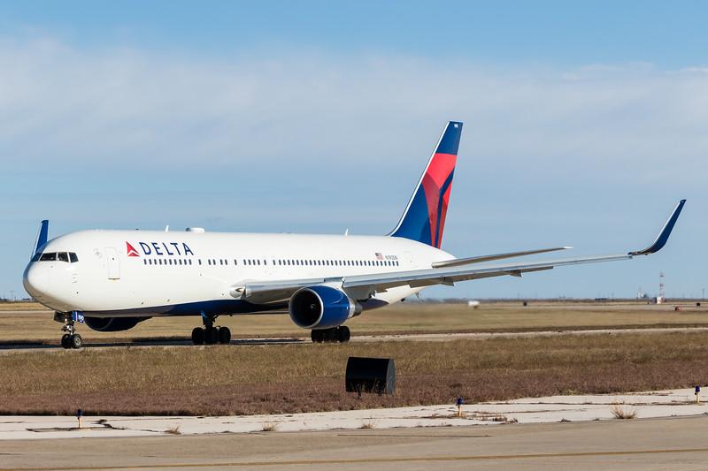 -(Airline) Delta Air Lines<br /> -(Aircraft) Boeing 767-300ER<br /> -(Aircraft Registration) N190DN<br /> -(Flight Number) Delta Air Lines Flight 9932<br /> -(Flight Route) Rick Husband Amarillo International Airport, TX to Salt Lake City International Airport, UT